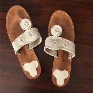 White Jack Rogers Navajo sandals